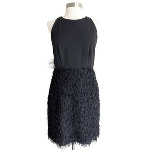 Fame and Partners Black Fringed Cocktail Dress 10
